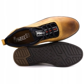 Polbut K24 red leather casual shoes yellow 2