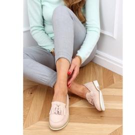Women's beige loafers AB687 Nude 1