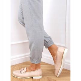 Women's beige loafers AB687 Nude 2