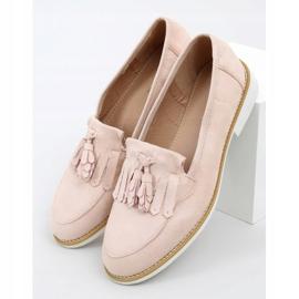 Women's beige loafers AB687 Nude 3