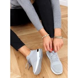 Gray G-363 Gray socks sport shoes grey 1