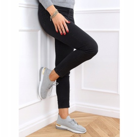 Gray G-363 Gray socks sport shoes grey 2