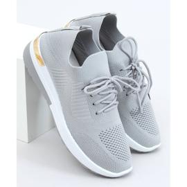 Gray G-363 Gray socks sport shoes grey 3