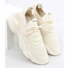 FF-10 Beige beige sock sports shoes 3