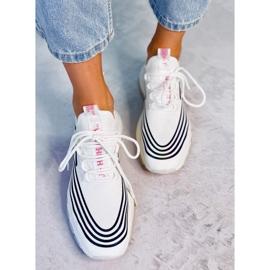 White sports socks BX1820-SP WHITE / BLACK 2