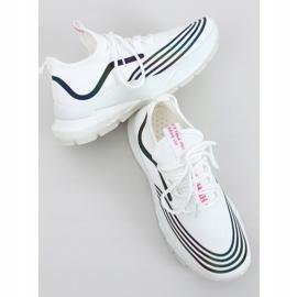 White sports socks BX1820-SP WHITE / BLACK 3