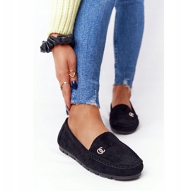 PS1 Women's Black Suede Loafers Madelyn 3