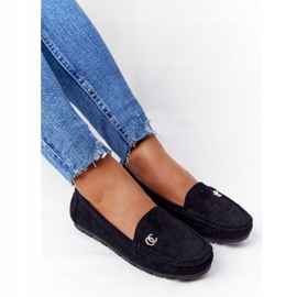 PS1 Women's Black Suede Loafers Madelyn 4