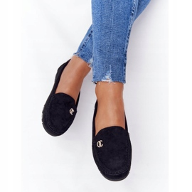 PS1 Women's Black Suede Loafers Madelyn 2