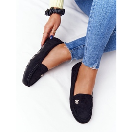 PS1 Women's Black Suede Loafers Madelyn 5