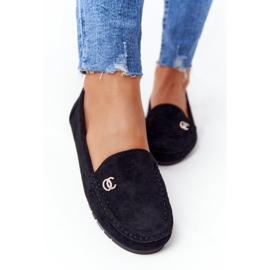 PS1 Women's Black Suede Loafers Madelyn 6