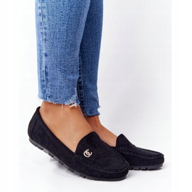 PS1 Women's Black Suede Loafers Madelyn 1