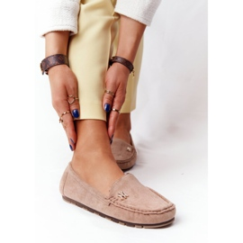 PS1 Women's Suede Loafers Beige Madelyn 3