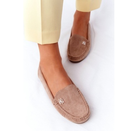 PS1 Women's Suede Loafers Beige Madelyn 4