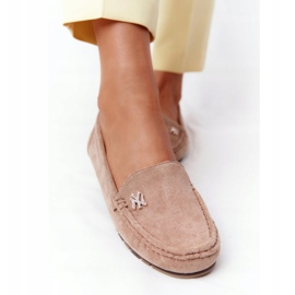 PS1 Women's Suede Loafers Beige Madelyn 5
