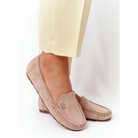 PS1 Women's Suede Loafers Beige Madelyn 7