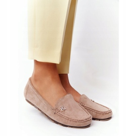PS1 Women's Suede Loafers Beige Madelyn 2
