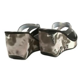 Women's Ipanema 83071 Lipsick Straps VII wedge slippers black grey 3