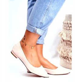 Evento Westley Beige Spitz Ballerina Shoes 3