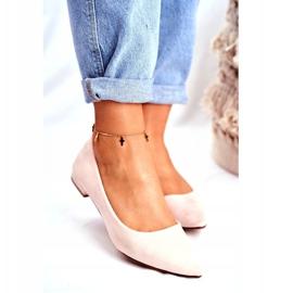 Evento Westley Beige Spitz Ballerina Shoes 2