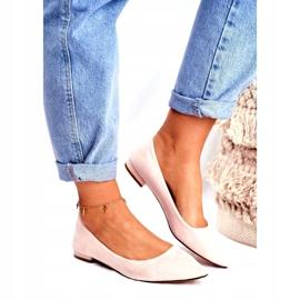 Evento Westley Beige Spitz Ballerina Shoes 1