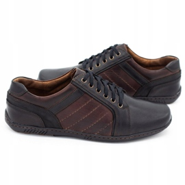Mario Pala Men's leather shoes 616 brown 1