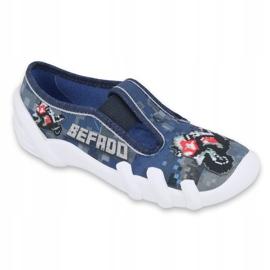 Befado children's shoes 290Y203 navy blue grey 1