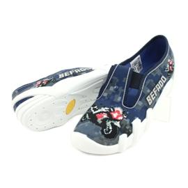 Befado children's shoes 290Y203 navy blue grey 4