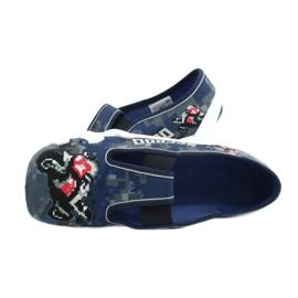 Befado children's shoes 290Y203 navy blue grey 5