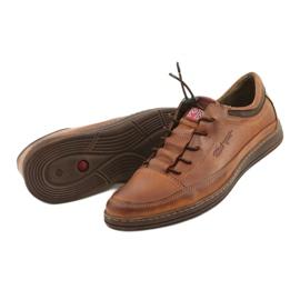 Polbut Men's leather casual shoes K22 light brown 12