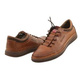 Polbut Men's leather casual shoes K22 light brown 10