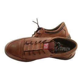 Polbut Men's leather casual shoes K22 light brown 13