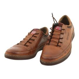 Polbut Men's leather casual shoes K22 light brown 9