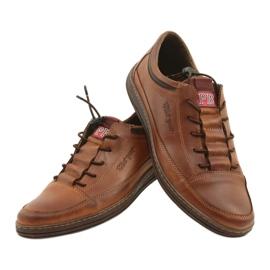 Polbut Men's leather casual shoes K22 light brown 11