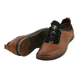 Polbut Men's leather casual shoes K24 1337 brown 3