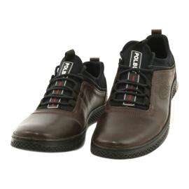 Polbut Casual leather men's shoes K24 908 brown black 1