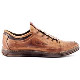 Polbut Men's leather casual shoes K22 light brown 1