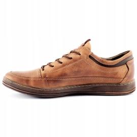 Polbut Men's leather casual shoes K22 light brown 2