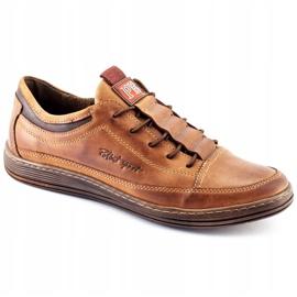 Polbut Men's leather casual shoes K22 light brown 3