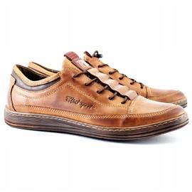Polbut Men's leather casual shoes K22 light brown 4