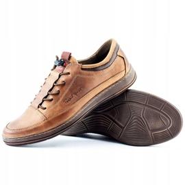 Polbut Men's leather casual shoes K22 light brown 5