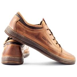 Polbut Men's leather casual shoes K22 light brown 6