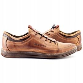 Polbut Men's leather casual shoes K22 light brown 7