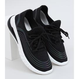 Black 3436 Black socks sports shoes 1