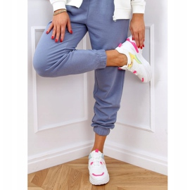 Women's sports shoes white and pink HX-68 Red 3