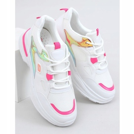 Women's sports shoes white and pink HX-68 Red 1