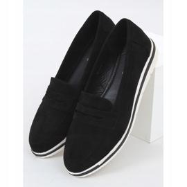 Black 1151 Black high-soled loafers 1