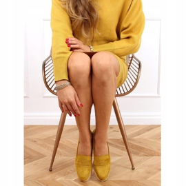 High-soled loafers mustard 1151 Yellow 2