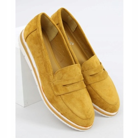 High-soled loafers mustard 1151 Yellow 1
