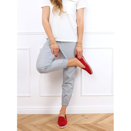 High-soled loafers red 5836 Red 2